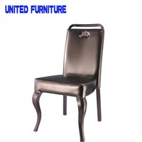 Wholesale METAL legs and LEATHER back chair casual dining chair minimalist fashion chair factory Multi color optional