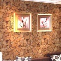 Classique Vintage naturel Rocher mur Wallpaper Stacked Pierre, Rocher, Slate Effect fond d'écran PVC vinyle Fond d'écran étanche