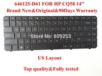 Wholesale Original Keyboard for HP CQ58 laptop keyboard D61 US Layout days Warranty Top quality
