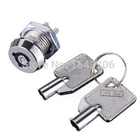 Wholesale Key Operated Security Barrel Switch Lock Pole Single SPST ON OFF Position Key small order no tracking