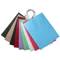 Wholesale Vogue Party Bags Kraft Paper Gift Bag With Handles Recyclable Loot Mini Small Jumbo Bag High Quality