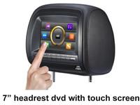 Wholesale 7inch touch screen Car dvd player headrest dvd player wireless games controller fm transmitter MP4 player
