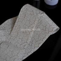 beautiful cracks - Beautiful Gold Cracking White Nail Art Toe Transfer Foil Tips Rol Sticker GL92