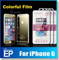 screen glass - for iPhone6 I5 S I6plus Front Back Color Mirror tin Screen Protector Tempered Glass Color Mirror Real Tempered Glass Film Screen Protector