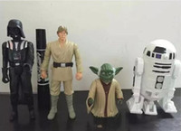 Wholesale 20lot Star Wars Figure set Shiny Darth Maul Darth Vader Yoda Stormtrooper Chewbacca Action PVC Figures Toys in opp bag