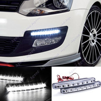 daytime running led - 1Pair White Car LED DRL Daytime Running Lights Head Lamp SV009753