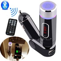 Wholesale 2015 New Design Bluetooth Car Kit FM Transmitter Handsfree MP3 Player Charger for Samsung S6