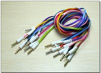 audio cables types - Hot Selling mm to mm Colorful flat type Car Aux audio Cable Extended Audio Auxiliary Cable