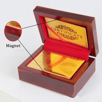 14 karat gold - New K Karat Gold Foil Plated Poker Playing Card with Wood Box and Certificate Best Deal