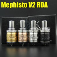 Cheap new item Vaporizer Mephisto V2 RDA RBA Atomizer Rebuildable Clone Dripping RDA Tank Electronic Cigarette SS Black Brass Copper dhl