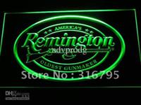 оптовых firearms-d233-г Remington огнестрельное оружие охотничье оружие Логотип неоновый свет Вход
