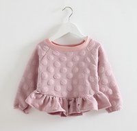 Wholesale NEW kids girls s coat jacket girl children sweater outerwear flounced pullover coat long sleeve A5