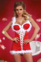 adult baby halloween costumes - Adult Sexy Christmas Costumes For Women Santa Baby Hooded Xmas Lingerie Dress Halloween Party Cosplay Costume For Fantasia Girl S7271