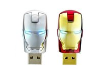 8gb flash drive - 30 Cartoon Avengers Iron Man silver gold Metal usb flash drive GB GB GB GB GB USB Flash Memory Stick Drive pendrive