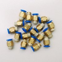 Wholesale 20pcs mm Tube Thread Male Straight Pneumatic Fitting Quick joint connector