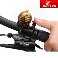 Cheap Wholesale-2015 BATFOX Mini Copper retro bell Alarm Horn Sound Alloy Metal Ring Handlebar Bell for Bike Bicycle Cycling Brand New Copper