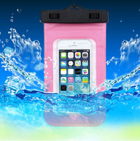 Wholesale Underwater Dry Pouch Bag Waterproof Bag For Univeral cell phone For iPhone samsung NOTE3 NOTE4 s5 s6 PVC Case with Arm Band Lanyard