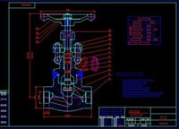 ball valve drawings - DN40 ball valve steel liner lined drawings Full Machining drawings