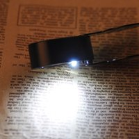 Wholesale Lupa De Dumento Folding X mm Glasses Magnifier Jewelry Compact Pocket Loupe Led Light Lamp Magnifying Glasses order lt no track