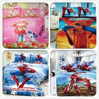 Wholesale Home textiles bedclothes Child Cartoon pattern Iron Man bedding sets include duvet cover bed sheet pillowcase