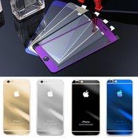 Salvaguardia pantalla Envío Gratis 9H vidrio templado color LCD de la película del protector frontal y la cubierta protectora para el iPhone 4S 5S iphone 6 Plus