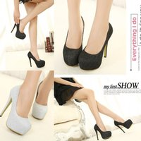 bridal shoes - 2015 High heels silver black wedding shoes Bridal Shoes Luxury High Heels Shoes