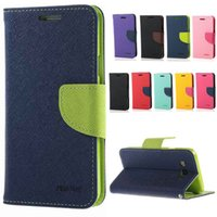 ace leather pouch - Mercury Wallet PU Flip Leather Case Card Slot TPU Cover For Samsung Galaxy S6 Edge Plus ACE Core J1 ACE J2 J5 J7 Grand Prime G530