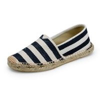 Wholesale 2015 new canvas shoes for men and women Hand sewn stripes lazy shoes Breathable low shoes Freel shipping