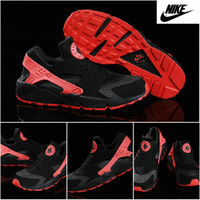 nike huarache - 2015 Nike Women Men Air Huarache Running Shoes Hyper Punch Black Red Pure Platinum Love Hate Huaraches Originals Trainers Max Size