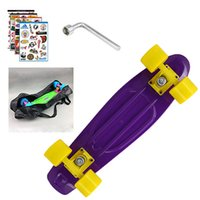Wholesale peny board kateboard with bag cool color truck wheel longboard mini cruiser long board banana pnny style skate board patins