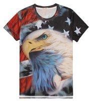 american flag tees for women - Harajuku style new summer tops animal t shirt D graphic print American flag t shirt for men women fashion Unisex tee shirt