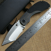 tool handle - STRIDER RC Folding Knife Titanium G10 handle D2 TANTO blade camp Tactical hunt outdoor survival utility Combat Knives EDC tools