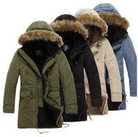 men long coat jacket - 2014 Winter Coat Men Hooded Warm Casual Long Thick Padded Men s Parka Outdoors jacket Plus Size