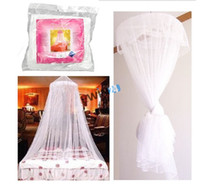 Cheap Brand New and High Quality Arrival Summer Bedding Mesh Lace Canopy Round Dome Insect Mosquito Netting 5pcs