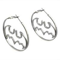 batman hoop earrings - fashion batman hoop earring silver gold stainless steel big ear jewelry high quality