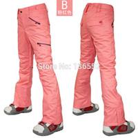 Wholesale Womens pink ski pants female blue skiing snowboarding pants winter sports trousers ski jupon waterproof K thermal top quality snow pants