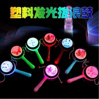 Wholesale Cartoon hot Chinese traditional light flash rattle rattle toy stall goods