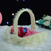 bamboo basket - 2015 The new wedding bamboo basket wedding flower girl hand basket yingbin furnishing articles and toys products like basket