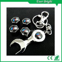 Wholesale x Cartire pressure caps cover wrench key chain for Mixed order For All Model