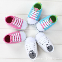 Wholesale 2016 Collections Children s Shoes Newest Baby First Walker Shoe Sport Soft Cotton Surface Lace up Anti Skidding Soles For Months B