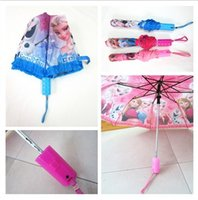 Wholesale New frozen children lace umbrella brief paragraph princess cartoon children folding umbrella