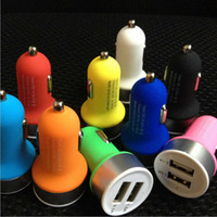 Wholesale A2 V A Port Duckbill mini Dual USB Car Charger Auto Power Adapter for iPhone Ipad Samsung HTC LG