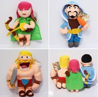 13-24 Months archer video - New Arrival Clash of Clans Game Plush Toys Archer Wizard Barbarian COC Stuffed Plush Soft Dolls For Children cm