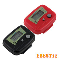 Wholesale LCD Pedometer Mini Single Function Pedometer Step Counter LCD Run Step Pedometer Digital Walking Counter with Package
