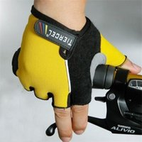 affordable bicycles - Affordable Fashion D Design Cycling Bike Bicycle Wearable Sports Half Finger Glove Yellow