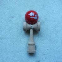 wood dragon - Angry face kendama toy paint tips ball Funny face Wink Professional game top quality Dragon face two side