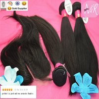 best of best - Best Grade Of Human Hair Cheap Price Middle Part Closure With Hair Piece Natural Straight Hair Bundles With Closure