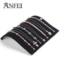 Wholesale Black rack Jewelry The necklace Display Show Case Organizer Tray Box Organizer Tray Necklace display board jewellry receive tray