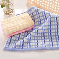 Wholesale Wholesales Multifunction Home Hand Towels Soft Cotton Plaid Bathroom Face Towel Gifts CM JQ0011 smileseller