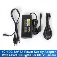 Wholesale 100V V To DC V A Switching Power Supply Adapter to Power Plug Pigtail with Ways for CCTV Security Camera DVR Kit